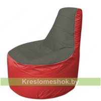Кресло мешок Трон Т1.1-2302(тем.серый-красный)