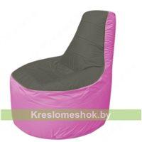 Кресло мешок Трон Т1.1-2303(тем.серый-розовый)