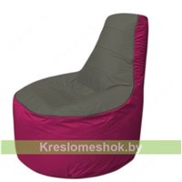 Кресло мешок Трон Т1.1-2304(тем.серый-фуксия)
