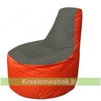 Кресло мешок Трон Т1.1-2305(тем.серый-оранжевый)