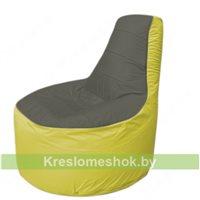 Кресло мешок Трон Т1.1-2306(тем.серый-желтый)