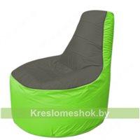 Кресло мешок Трон Т1.1-2307(тем.серый-салатовый)