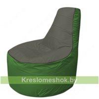 Кресло мешок Трон Т1.1-2308(тем.серый-зеленый)