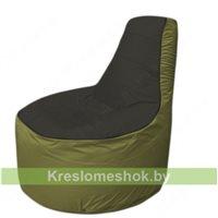 Кресло мешок Трон Т1.1-2410(черный-оливковый)