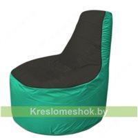 Кресло мешок Трон Т1.1-2412(черный-бирюзовый)