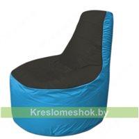 Кресло мешок Трон Т1.1-2413(черный-голубой)