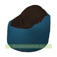 Кресло-мешок Браво Б1.3-F01F03 (темно-коричневый, синий)