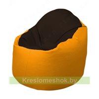 Кресло-мешок Браво Б1.3-F01F06 (темно-коричневый, жёлтый)