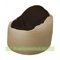 Кресло-мешок Браво Б1.3-F01F13 (темно-коричневый, бежевый)