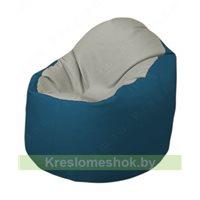 Кресло-мешок Браво Б1.3-F02F03 (светло-серый, синий)