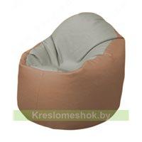 Кресло-мешок Браво Б1.3-F02F06 (светло-серый, бежевый)