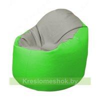 Кресло-мешок Браво Б1.3-F02F07 (светло-серый, салатовый)