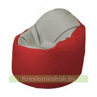 Кресло-мешок Браво Б1.3-F02F09 (светло-серый, красный)