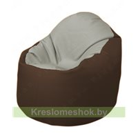 Кресло-мешок Браво Б1.3-F02F26 (светло-серый, коричневый)