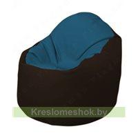 Кресло-мешок Браво Б1.3-F03F01 (синий, темно-коричневый)