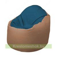 Кресло-мешок Браво Б1.3-F03F06 (синий - бежевый)