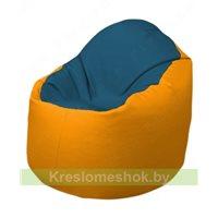 Кресло-мешок Браво Б1.3-F03F06 (синий - жёлтый)