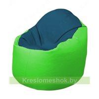 Кресло-мешок Браво Б1.3-F03F07 (синий - салатовый)
