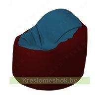 Кресло-мешок Браво Б1.3-F03F08 (синий - бордовый)