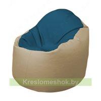 Кресло-мешок Браво Б1.3-F03F13 (синий - бежевый)