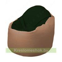 Кресло-мешок Браво Б1.3-F05F06 (темно-зеленый, бежевый)