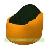 Кресло-мешок Браво Б1.3-F05F06 (темно-зеленый, жёлтый)