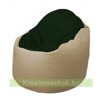 Кресло-мешок Браво Б1.3-F05F13 (темно-зеленый, бежевый)