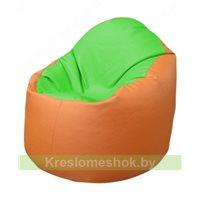 Кресло-мешок Браво Б1.3-F07F20 (салатовый - оранжевый)