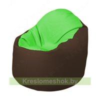 Кресло-мешок Браво Б1.3-F07F26 (салатовый - коричневый)