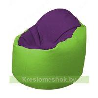 Кресло-мешок Браво Б1.3-N32N19 (фиолетовый - салатовый)