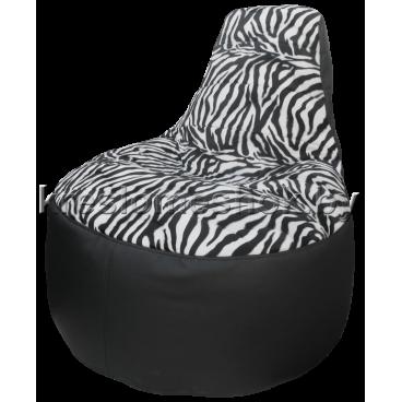 Кресло мешок Трон Зебра