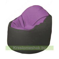 Кресло-мешок Браво Б1.3-N67N17 (сиреневый, тёмно-серый)