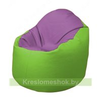 Кресло-мешок Браво Б1.3-N67N19 (сиреневый - салатовый)