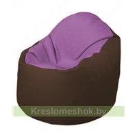 Кресло-мешок Браво Б1.3-N67N26 (сиреневый - коричневый)