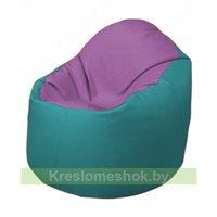 Кресло-мешок Браво Б1.3-N67N41 (сиреневый - бирюзовый)