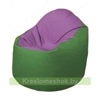 Кресло-мешок Браво Б1.3-N67N76 (сиреневый - зелёный)