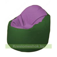 Кресло-мешок Браво Б1.3-N67N77 (сиреневый - тёмно-зелёный)