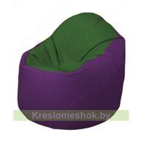Кресло-мешок Браво Б1.3-N77N32 (темно-зеленый, фиолетовый)