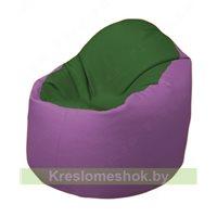 Кресло-мешок Браво Б1.3-N77N67 (темно-зеленый, сиреневый)