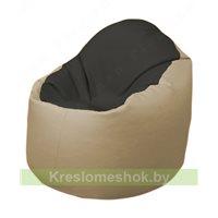 Кресло-мешок Браво Б1.3-T38Т13 (черный - бежевый)