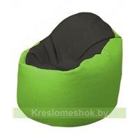 Кресло-мешок Браво Б1.3-T38Т19 (черный - салатовый)