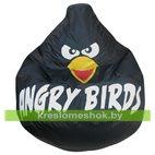Кресло мешок Груша Черная птичка оксфорд (80 x 120 см)