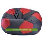 Кресло мешок Мяч черно-красный