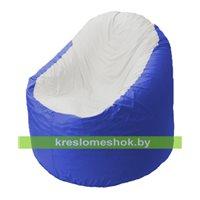 Кресло мешок Bravo васильковое, сидушка слоновая кость