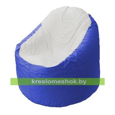 Кресло мешок Bravo васильковое, сидушка белая