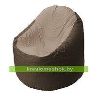 Кресло мешок Bravo коричневое, сидушка темно-бежевая