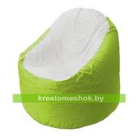 Кресло мешок Bravo салатовое, сидушка белая