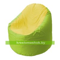 Кресло мешок Bravo салатовое, сидушка желтая