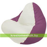 Кресло мешок RELAX бордовое, сидушка белая