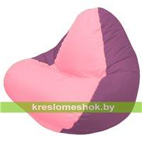 Кресло мешок RELAX бордовое, сидушка розовая